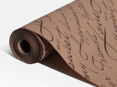 Бумага рифленая коричневая