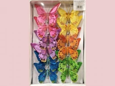 Бабочки 12 см  12 шт.