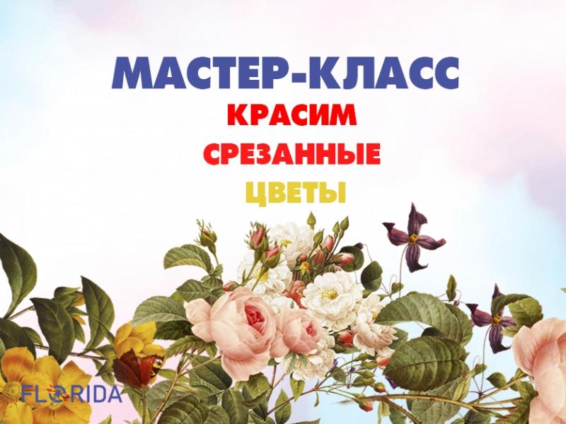 Как покрасить срезанные цветы