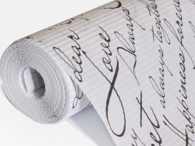 Бумага рифленая белая