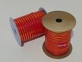 Лента 1,0 см Люрекс - 02 Красная
