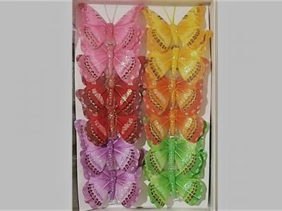 Бабочки 8 см  12 шт.